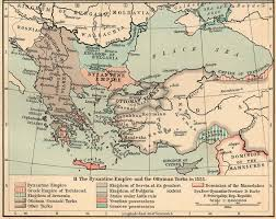 Map Of Ottoman Empire Map Of The Byzantine Empire And The Ottoman Turks In 1355