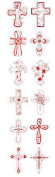 designs by juju redwork crosses machine embroidery designs