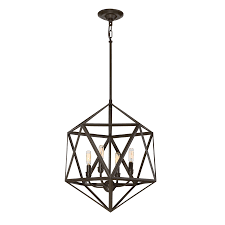 Moravian Light Fixtures by Quoizel Liberty Park 18 In Painted Bronze Industrial Multi Light