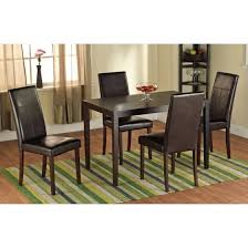 Parson Dining Room Chairs Faux Leather Parson Dining Chair Set Of 2 Walmart