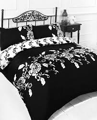 Black And White King Size Duvet Sets King Size Black U0026 White King Size Duvet Cover Bed Set Amazon Co
