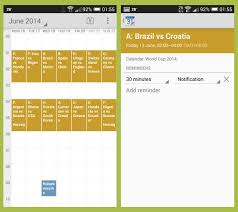 add reminder in android add the worldcup2014 schedule to android calendar with reminders