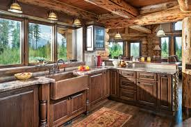 Log Home Styles 3 Log Home Kitchen Styles