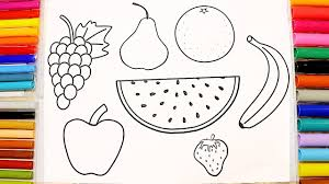 learn colors u0026 names fruits coloring pages for children youtube