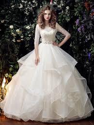 half lace wedding dress half sleeve lace beading gown half sleeve wedding dress