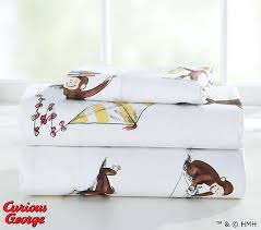 Curious George Sheet Set Twin Pottery Barn Kids - Curious george bedroom set