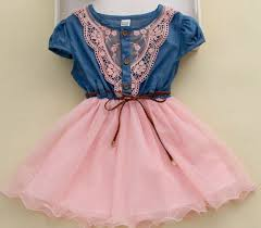 blue dress denim dresses 2t 3t 4t pink western style lace denim