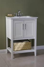Classic  Inch Bathroom Vanity White Finish With Basket - 21 inch wide bathroom vanity cabinet