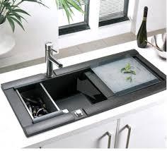 innovative kitchen design ideas cabinets innovative black acrylic kitchen sink element design on