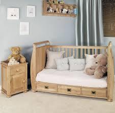 Bedroom Furniture Kent Amelie Oak Cot Bed With Drawers Luxury Nursery Furniture Kent
