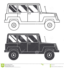 jeep vector suv jeep outline and thin line icon stock vector image 66644013