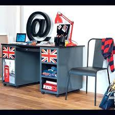 accessoire chambre ado accessoire chambre chambre ado bureau 2 tiroirs gris