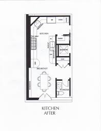 Kitchen Floor Plans With Dimensions by Galley Kitchen Floor Plans Redtinku
