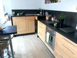 plan travail cuisine bois cuisine noir plan de travail bois cuisine bois clair plan de travail
