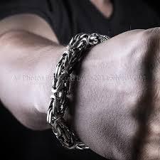 mens silver byzantine necklace images 10mm silver byzantine bracelets JPG