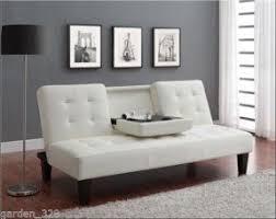 white leather futon sofa white faux leather futon furniture shop