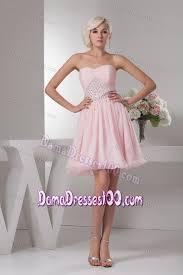 light pink dama dresses pink short quinceanera damas dress with beads on waist