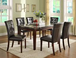 7 Pc Dining Room Genuine Marble Set Table 6 Chairs Furniture Stores