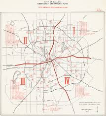 Map Of Dallas by Dallas Texas Siren System Map From 1974 Civil Defense Operations Plan