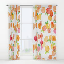 Window Curtain Watercolour Window Curtains Society6