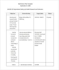 business action plan template 12 free sample example format