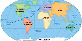 map of continents continent world map pointcard me