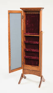 jewelry armoire oak finish maple jewelry armoire awesome mirrored amish valley products