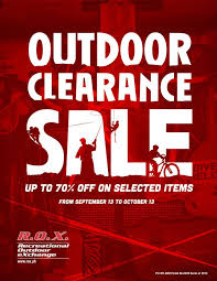 manila shopper r o x outdoor clearance sale sept oct 2013