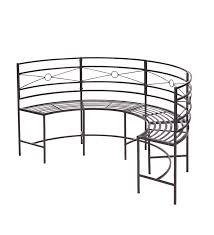 curved metal garden bench plow u0026 hearth conifer lodge circa