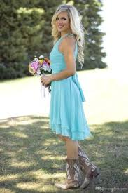 country bridesmaid dresses 2016 new cheap short for weddings teal