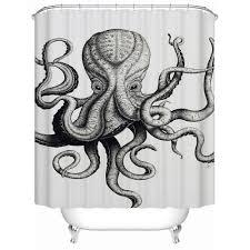Sourpuss Shower Curtain Unique Kraken Shower Curtain You Should Buy Best Curtains Home