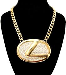 chain link necklace images Chunky lexus pendant chain link necklace glitz n glam jpg
