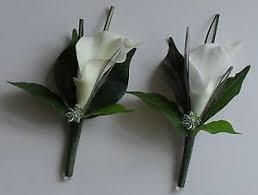 calla corsage vintage artificial diamante flower calla wedding