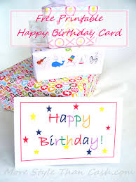 this is the birthday card free printable birthday card