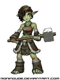 piglet the goblin barbarian by ronindude character design vault