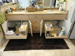 bathroom cabinets under sink pull out organizer under sink
