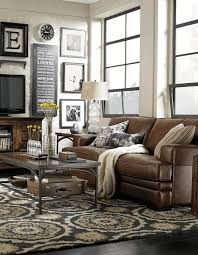 Leather And Wood Coffee Table Living Room Decorating Ideas With Brown Leather Furniture Grey