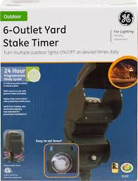 Westek Outdoor Timer by Ge 24 Hour On Off Outdoor Mechanical Timer With Yardstake Plug
