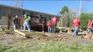 volunteers build ramp for veteran u0027s home wnep com