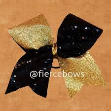 african american cheer hair bows glitter cheer bows choose your color and style fierce bows