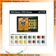 vallejo model air wwii german acrylic paint set 16 x 17ml