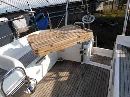boat tables for cockpit swingable turnable and folding cockpit table jeanneau owners forum