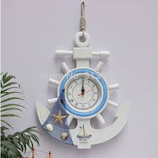 aliexpress com buy wood anchor rudder mute wall watches home