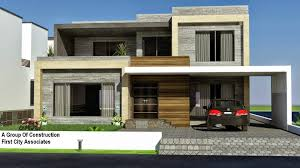 Architectural Design Of 1 Kanal House A Group Of Construction First City Associates Architecture And