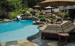 Backyard Pool Landscaping by Pool Design Nj Clc Landscape Design