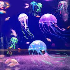 5 5 glowing effect aquarium artificial jellyfish ornament fish