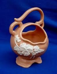 Weller Pottery Vase Patterns Vintage Planter By Weller Cameo Rose Pattern Ebay Weller