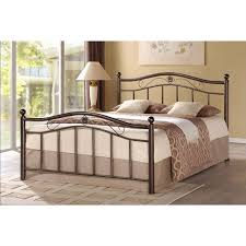 Bed Headboard And Footboard Queen Metal Platform Bed With Headboard And Foot Board In Brushed
