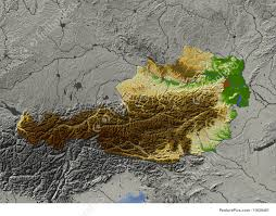 Map Austria Signs And Info Relief Map Of Austria Stock Illustration