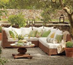 Sectional Pottery Barn Designing Outdoor Living Room W Palmetto Sectional By Pottery Barn